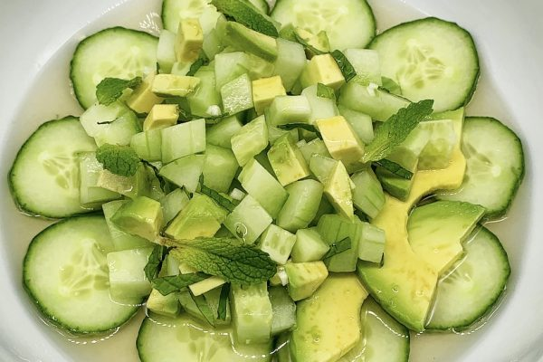 Cucumber Avocado Salad with Aged White Balsamic